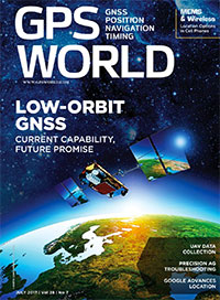 GPS World July 2017 cover