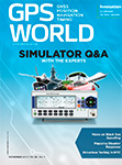 GPS World November 2017 cover