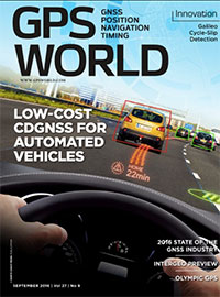 GPS World September 2016 cover