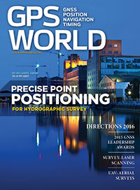 GPS World December 2015 cover