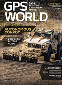 GPS World June 2016 cover