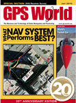GPS World January 2010 cover