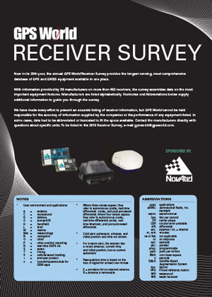 2012 GPS World Receiver Survey . Source: GPS World