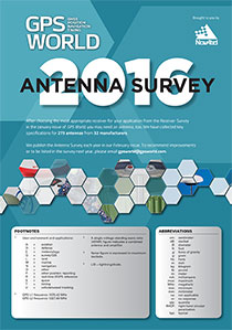 2016 GPS World Antenna Survey .  Source: GPS World