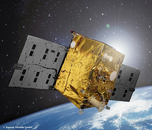 The TET-1 Satellite has Septentrio on board. (Image: DLR)