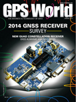 GPS World January 2014 cover