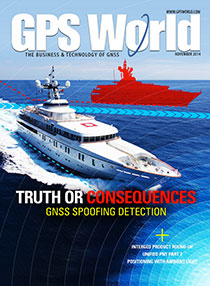 GPS World November 2014 cover