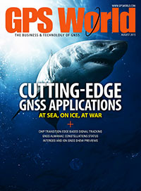 GPS World August 2015 cover