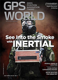 GPS World July 2016 cover
