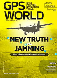 GPS World August 2016 cover