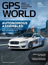 GPS World August 2017 cover