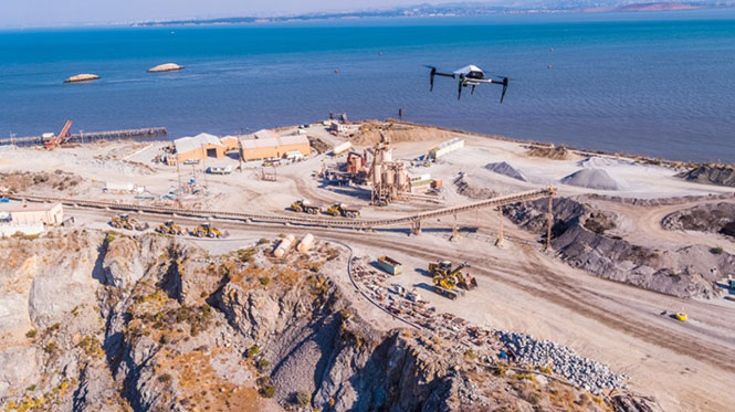 Skycatch drones will survey construction sites with existing RTK networks. (Photo: Skycatch)