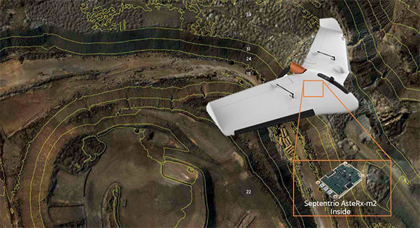 The Delair Septentrio UX11 mapping UAV. (Image: Septentrio)