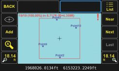 Four groups of surveyed points. (Image: Javad GNSS)