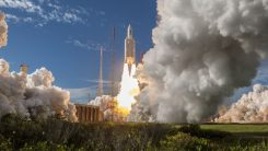 Europe's next four Galileo satellites lifted off at 11:25 GMT (13:25 CEST, 08:25 local time) on July 25 from Europe's Spaceport in French Guiana atop an Ariane 5 launcher. (Photo: ESA)