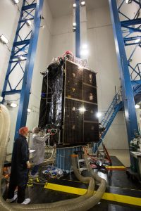 On July 13, 2017, the U.S. Air Force's second GPS III space vehicle (GPS III SV 02) successfully completed acoustic testing. (Photo: Lockheed Martin)