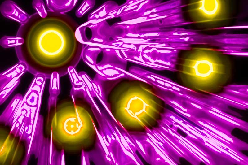 High-energy photons emission (abstract illustration). (Photo: GiroScience/Shutterstock.com)