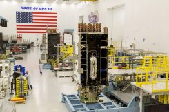 The fourth Lockheed Martin-built GPS Ill satellite is fully integrated. (Photo: Lockheed Martin)
