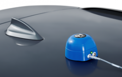 VBOX indoor positioning beacon atop a car. (Photo: Racelogic)