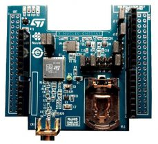 The X-nucleo-GNSS 1a1 extender board. (Photo: STMicroelectronics)