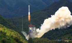 Liftoff of the Long March 3B rocket sending the Beidou-3 M15 and M15 satellites into orbit. (Photo: CALT)