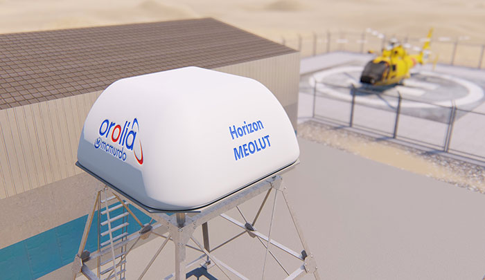 Horizon MEOLUT search-and-rescue phased array antenna (Photo: Orolia)