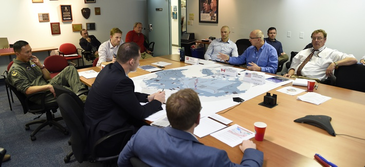 A 2016 wargame involving the Air Force and Navy at the Naval Postgraduate School. (Photo: U.S. Navy)