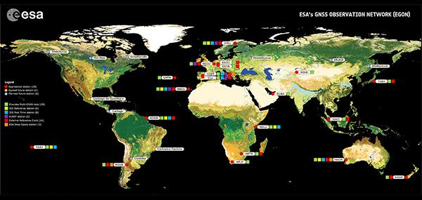 ESA's GNSS Observation Network (EGON). (Image: ESA)
