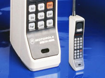 Motorola DynaTAC 8000X portable cellular phone, 1984. (Photo: Motorola)