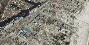 Aerial imagery of the devastation from Hurricane Michael in Mexico Beach, Florida. (Image: SimActive)
