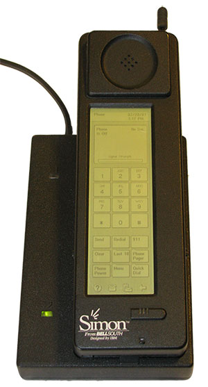 The IBM Simon Personal Communicator and charging base. (Photo: IBM/public domain)