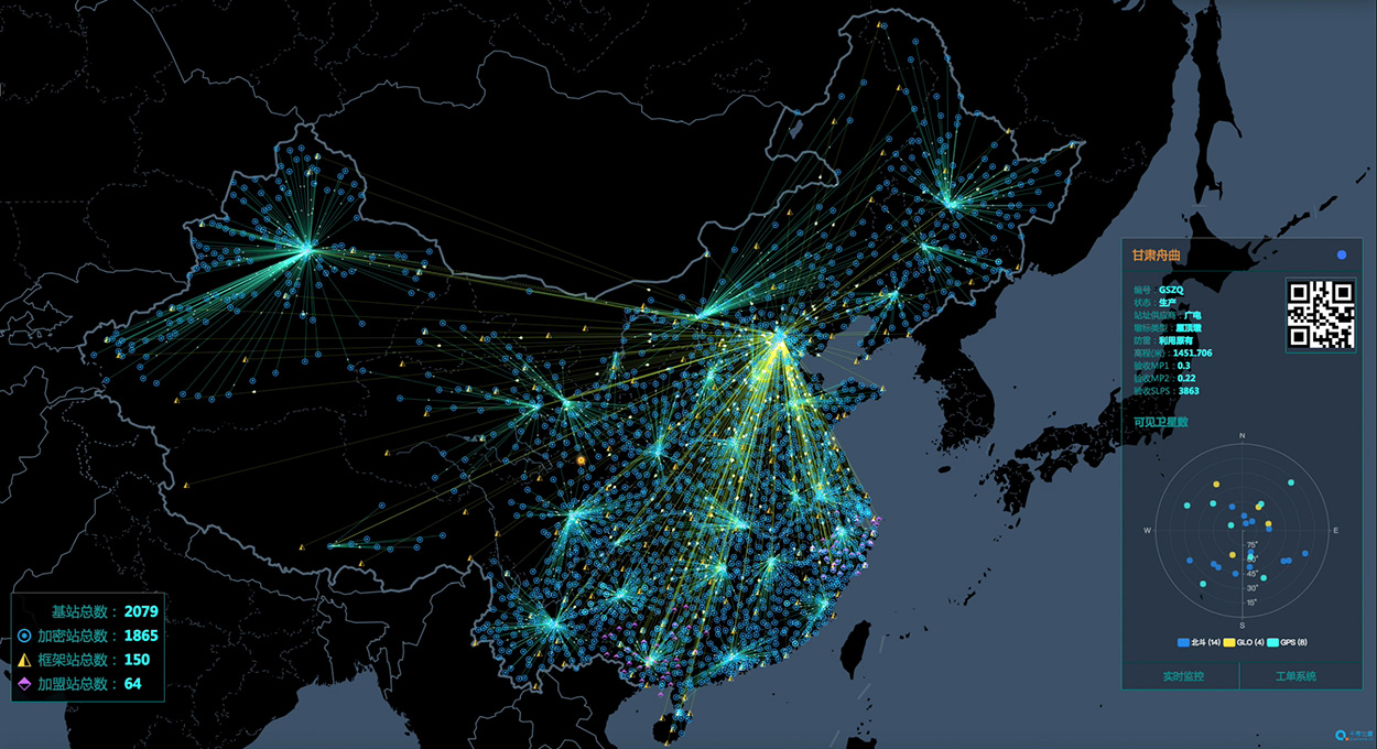 China's National Reference Station Network. (Image: BeiDou)
