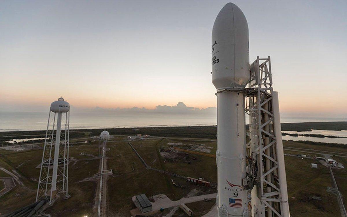 A Falcon 9 rocket awaits launch. (Photo: SpaceX)
