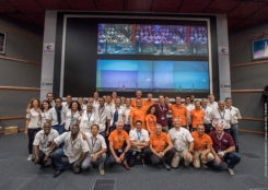 Countdown team at Kourou, Guiana control center for July's four-satellite launch. (Photo: ESA/CNES/Arianespace, P. Baudon)