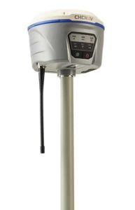 The i50 GNSS receiver comes bundled with the CHC HCE320 Android controller and CHC LandStar 7 field data collection software. (Photo: CHC Navigation)