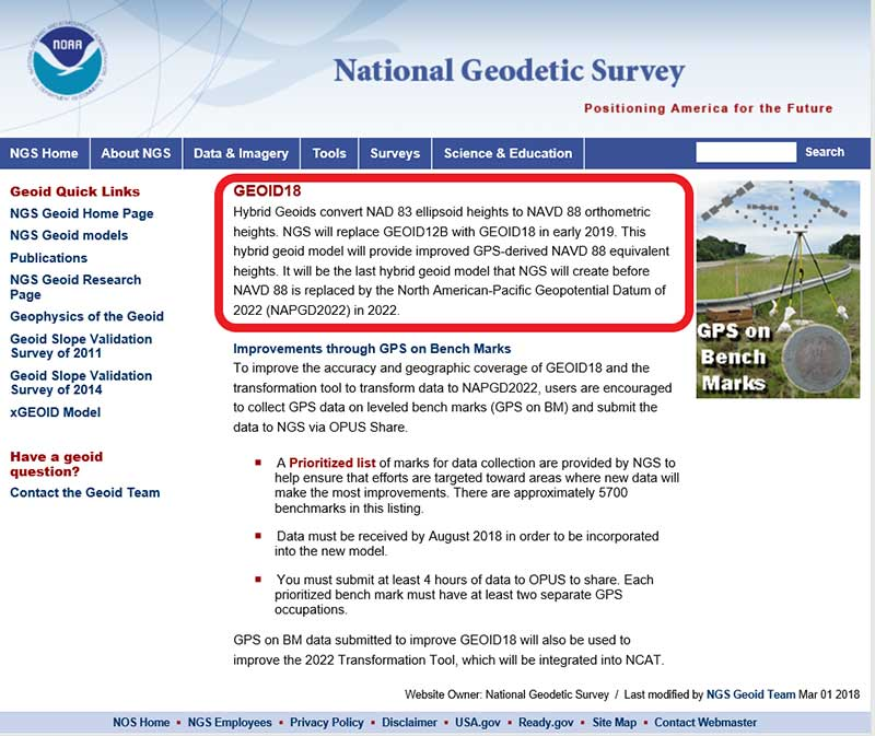 Photo: National Geodetic Survey