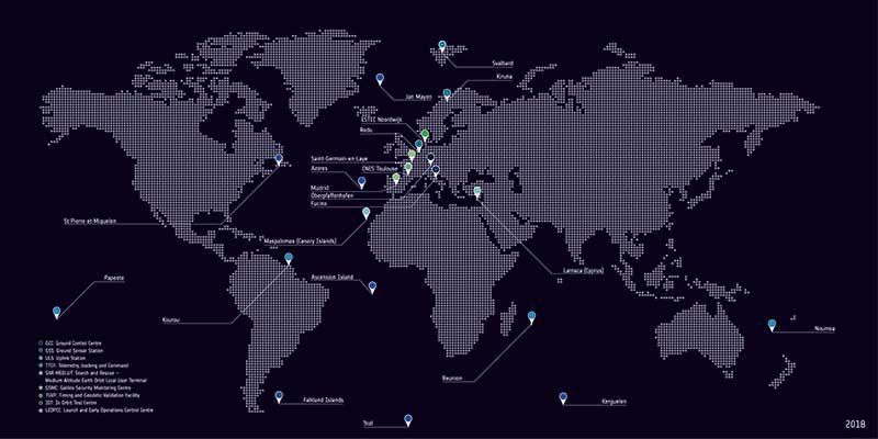 Galileo's global ground segment. (Photo: ESA)