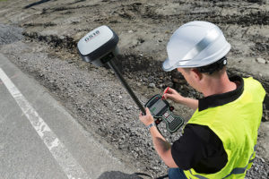Surveying accuracy is critical to roadway construction. (Photo: Leica Geosystems)