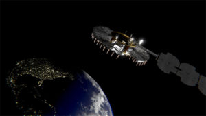 Satellite NTS-3 above Earth. (Illustration: Lt. Jacob Lutz, AFRL Space Vehicles Directorate)
