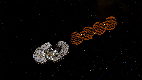 Satellite NTS-3 in space. (Illustration: Lt. Jacob Lutz, AFRL Space Vehicles Directorate)