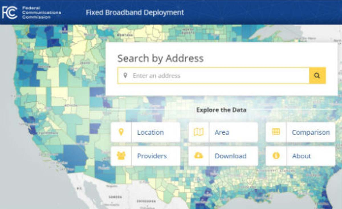 The FCC unveiled a new broadband map in February 2018. (Image: FCC)