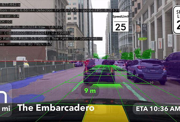 Augmented Reality view from the Mapbox Vision SDK. (Image: Mapbox)