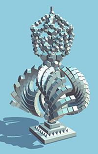 The 2019 QEPrize trophy, designed by 16-year-old Jack Jiang. (Photo: QEPrize)