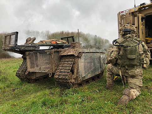 UK tests tracking UGVs in military exercise