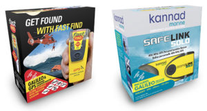 The upgraded McMurdo FastFind 220 and Kannad SafeLink Solo Personal Location Beacons. (Photo: Orolia)