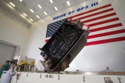 Lockheed Martin shipped the U.S. Air Force's first GPS III to Cape Canaveral, Florida ahead of its expected July launch. (Photo: Lockheed Martin}