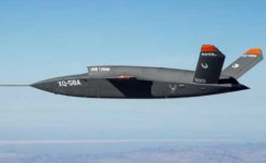XQ-58A demonstrator in flight. Photo: U.S. Air Force