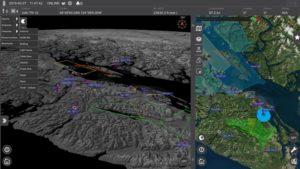 IRIS airspace situational awareness screenshot Photo: Kongsberg Geospatial