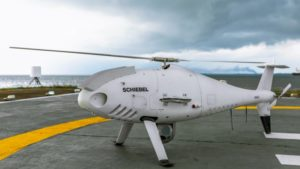 Camcopter S-100 prior to BVLOS pipeline inspection flight in Nigeria. Photo: Schiebel