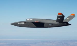 XQ-58A demonstrator in flight. Photo: US AirForce